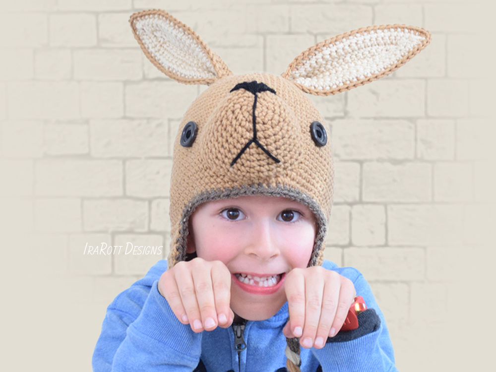 Kangaroo Joey Animal Hat PDF Crochet Pattern With Instant Download by IraRott