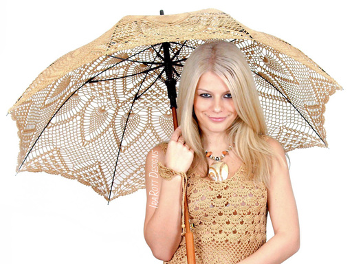 Pineapple Lace Parasol PDF Crochet Pattern By IraRott