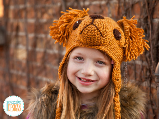Golden Retriever or Labrador Retriever Puppy Dog Hat Crochet Pattern by IraRott