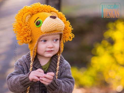 Lion Animal Hat Crochet Pattern for Boys and Girls of all ages