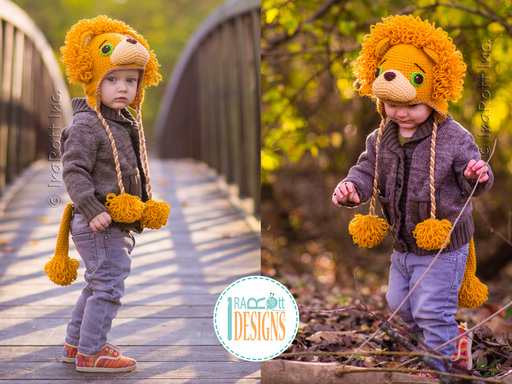 Lion Animal Hat Crochet Pattern for Babies Infants Kids and Adults