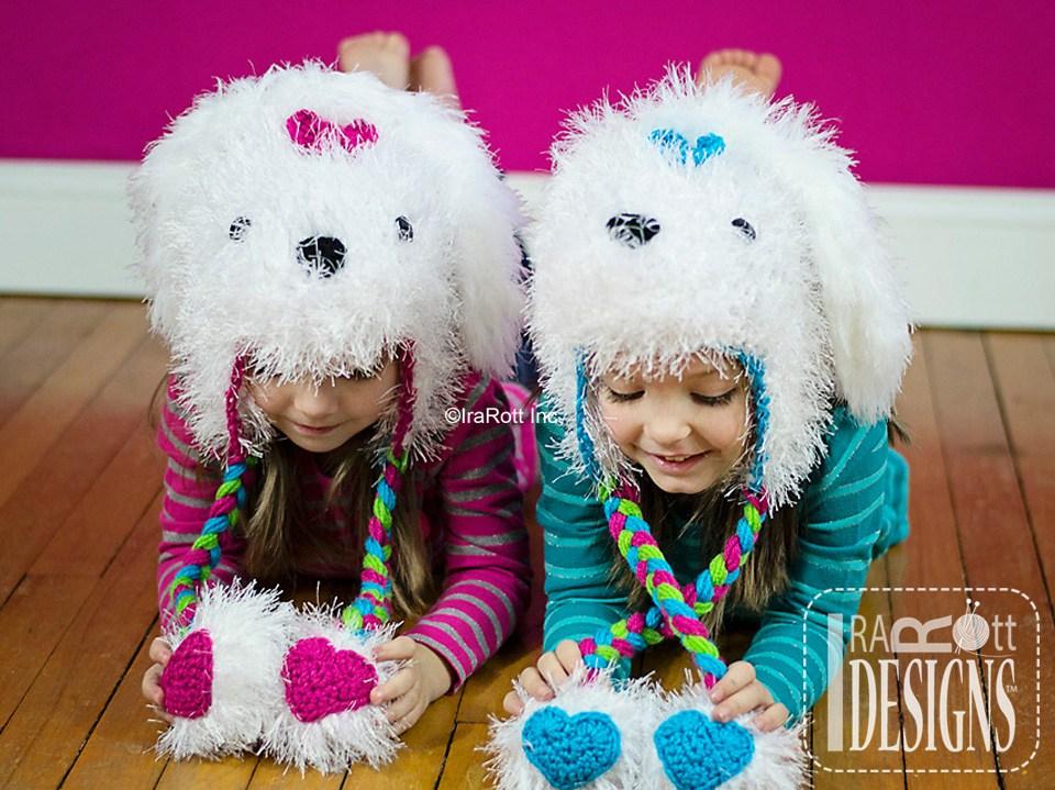 Pawla maltese puppy dog hat pdf crochet pattern irarott inc - Puppy dog crochet hat pattern ...