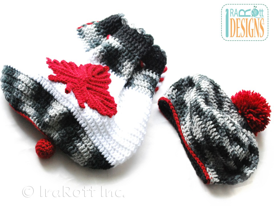 Crochet Backpack Pattern : ... Maple Leaf Applique and Classic Beret with Pom Pom Crochet Pattern