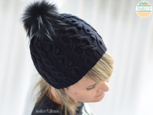 Modern Heirloom Cable Hat PDF Knitting Pattern With Instant Download by IraRott