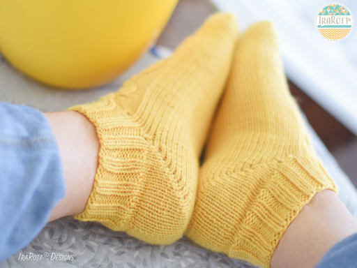 Modern Heirloom Cable Socks PDF Knitting Pattern With Instant Download by IraRott