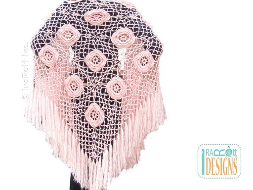 Mohair Shawl Crochet Pattern by IraRott