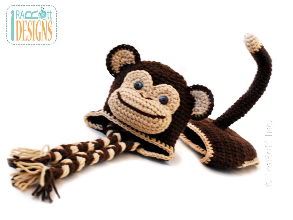 Chip the Chimpanzee Monkey Baby Hat and Diaper Cover PDF ...