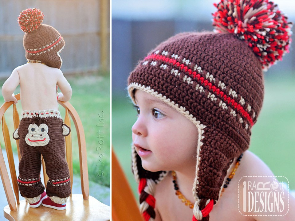 Silly Monkey Hat and Pants PDF Crochet Pattern - IraRott Inc.