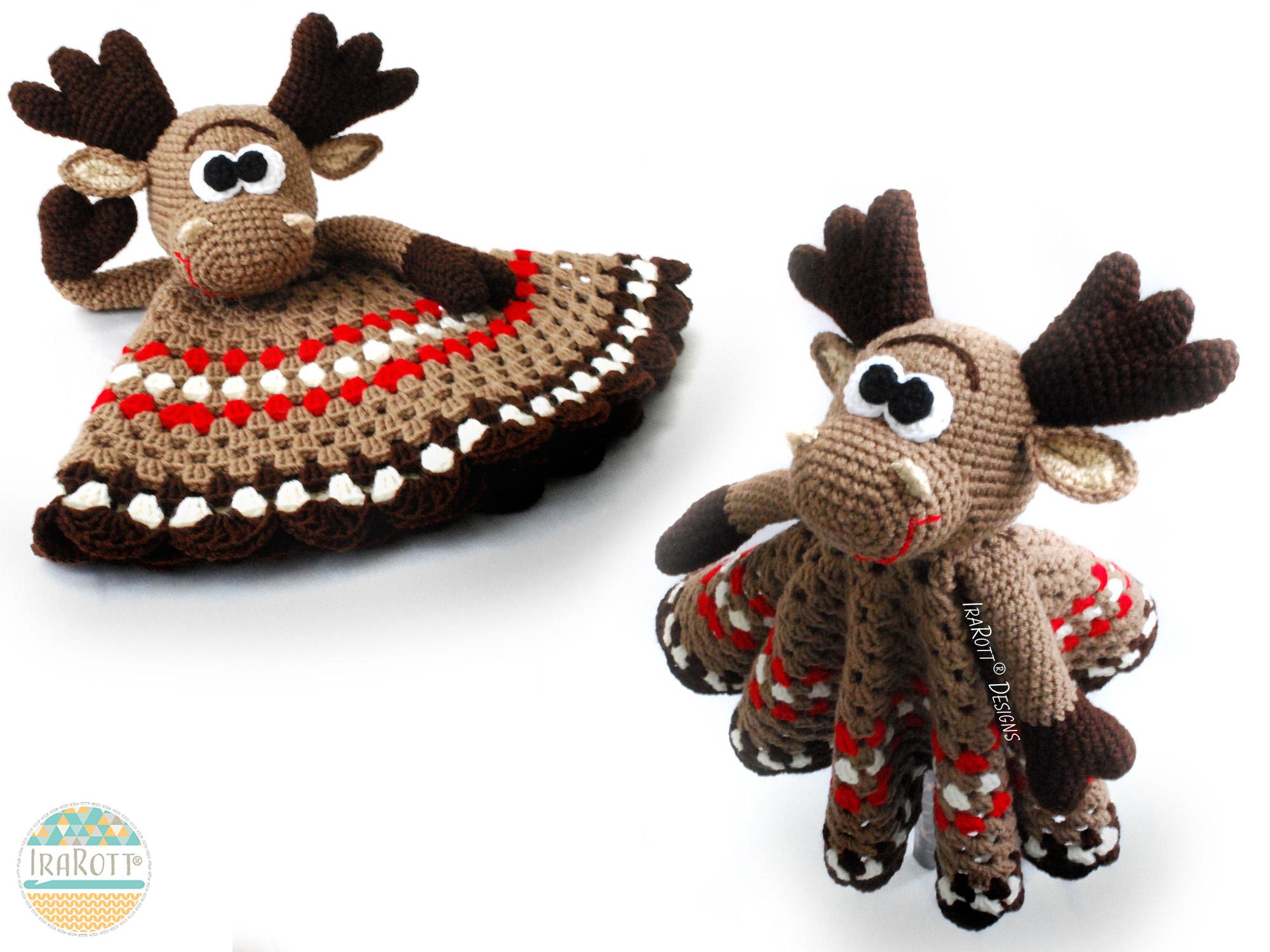 Eh Moose Snuggle Blankey Security Blanket Pdf Crochet Pattern