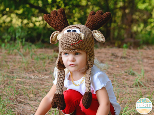 Eh Moose Hat PDF Crochet Pattern by IraRott