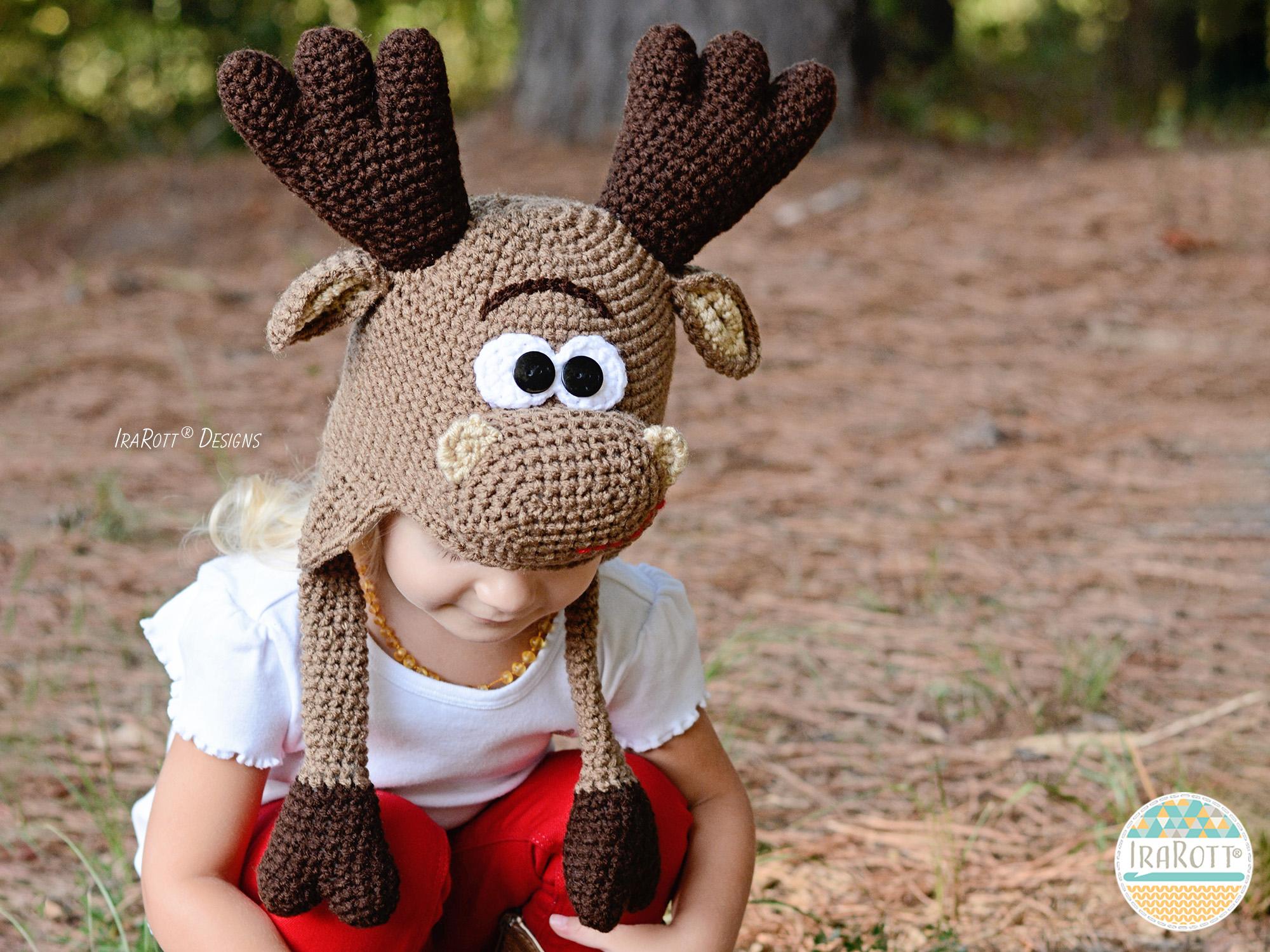 Eh Moose Hat Pdf Crochet Pattern Irarott Inc