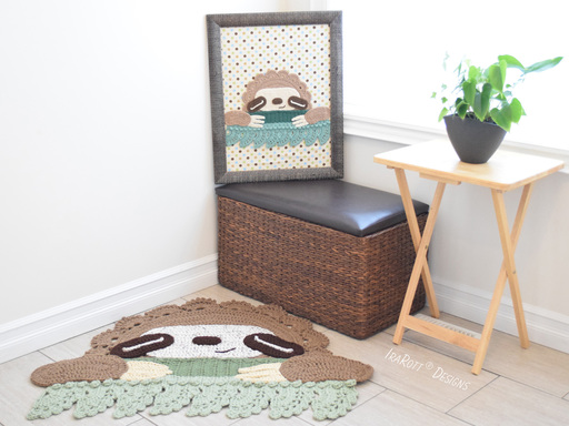 Mossy The Sloth Rug PDF Crochet Pattern With Instant Download by IraRott