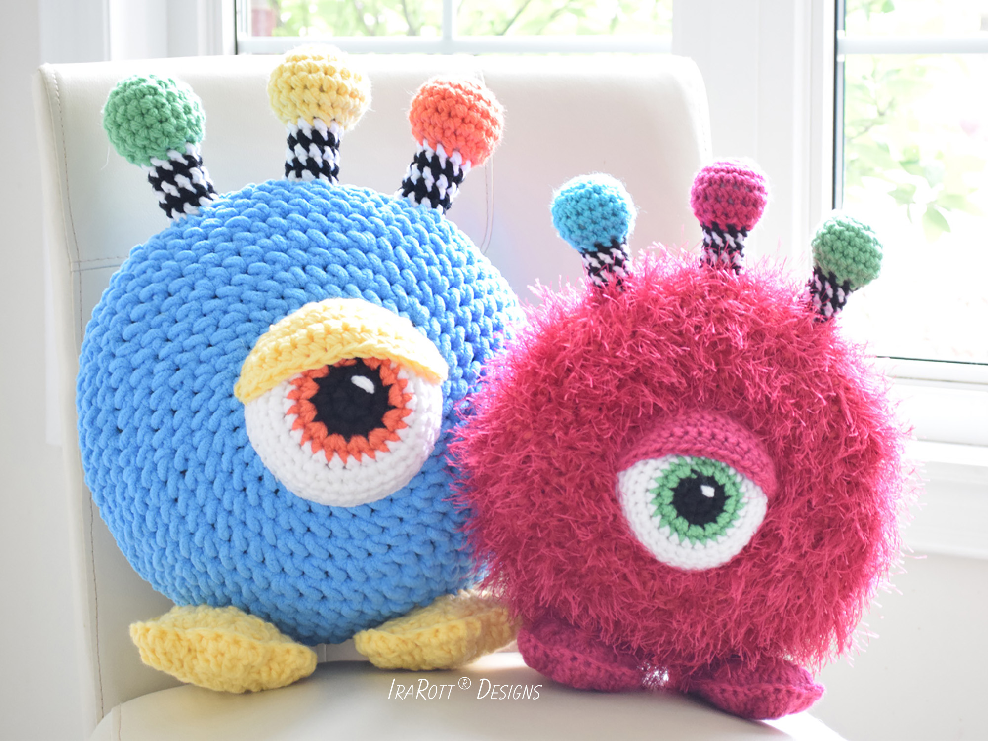 Neon The Gumball Monster Toy Pillow PDF Crochet Pattern With Instant Download by IraRott
