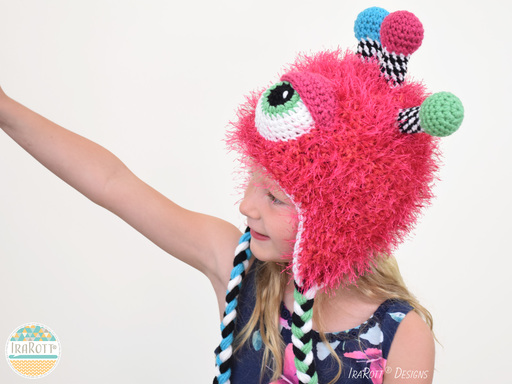 Alien Monster Hat and Matching Toy Crochet Pattern for Boys and Girls of all ages