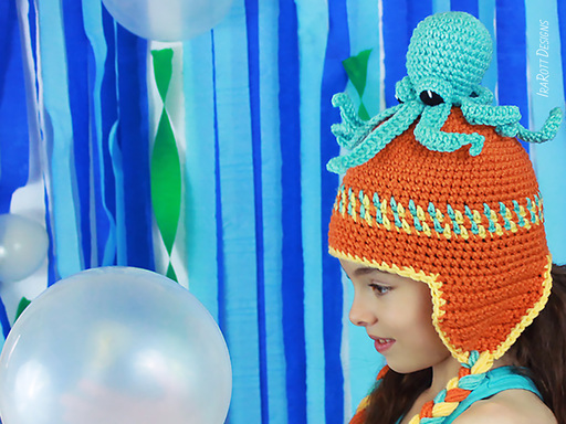 Octopus Hat with matching Amigurumi Toy Crochet Pattern by IraRott