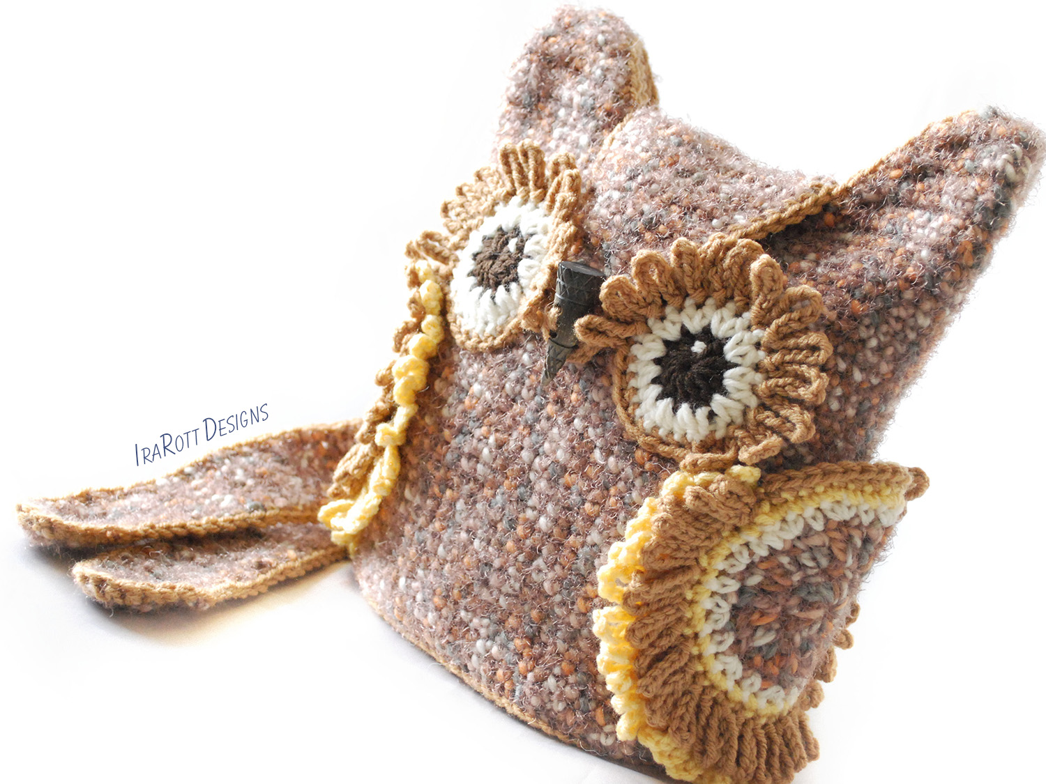 PDF Crochet Pattern for making a beautiful Owl Bag or Backpack or Belt ...