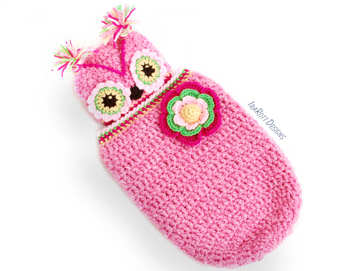 Owl Baby Animal Hat and Cocoon Crochet Pattern for Babies by IraRott ff0ecf6160b6