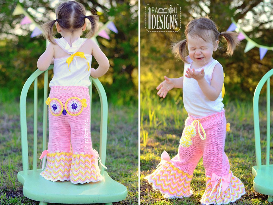 Fiesta Owl Pants And Ruffled Bloomers Pdf Crochet Pattern Irarott Inc