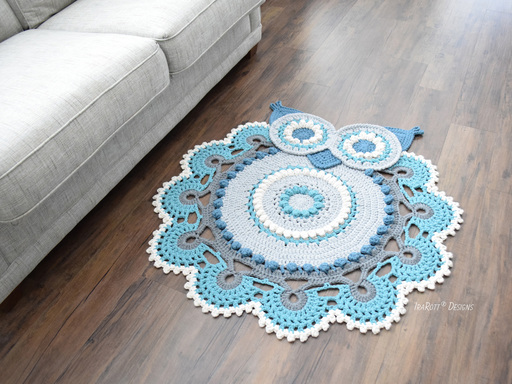 Retro Owl Rug Crochet PDF Pattern by IraRott