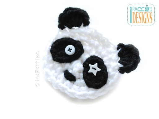 PDF Pattern for making a Panda Flower Applique