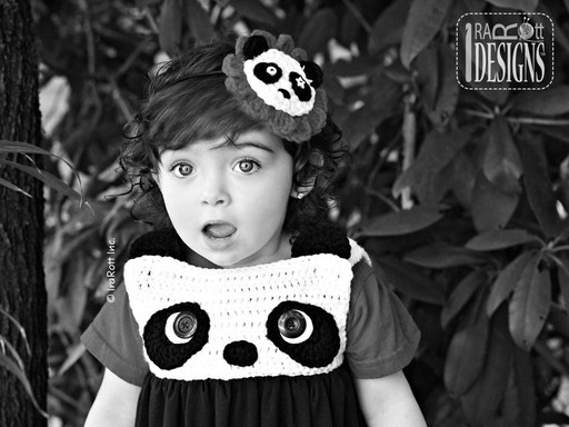 Bubble Dress or Top with Panda Face Crochet Pattern for kids