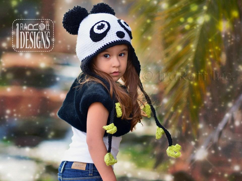 Amanda The Rock N Roll Panda Hat Pdf Crochet Pattern Irarott Inc