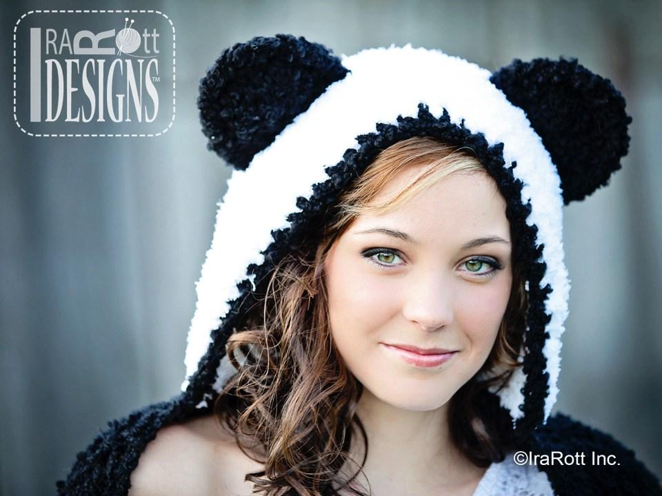 Panda Bear Hood with Scarf PDF Crochet Pattern - IraRott Inc.