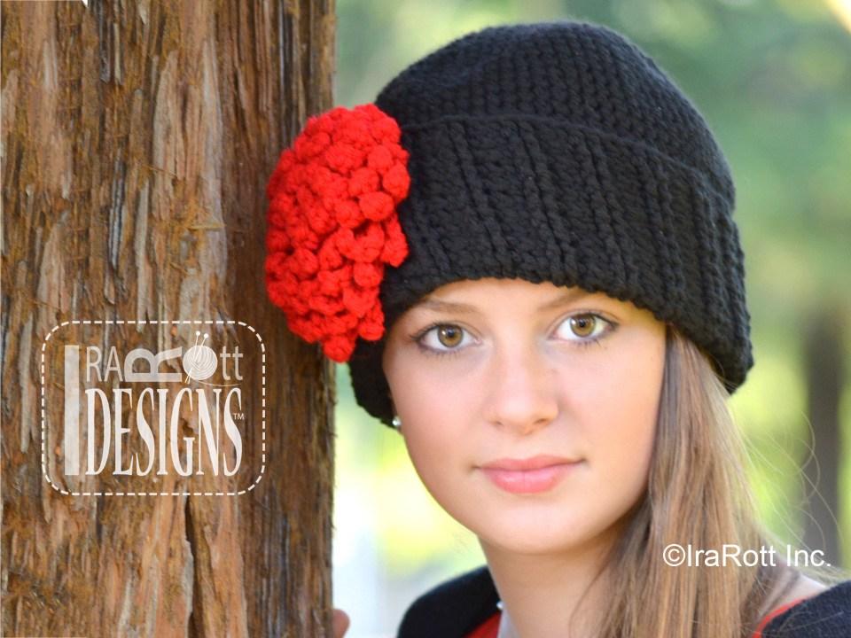 Parisian Dahlia Beanie Free PDF Crochet Pattern - IraRott Inc.