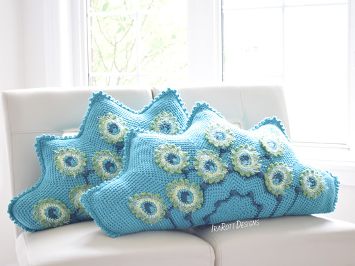 Pavo the Peacock Pillow PDF Crochet Pattern With Instant Download by IraRott