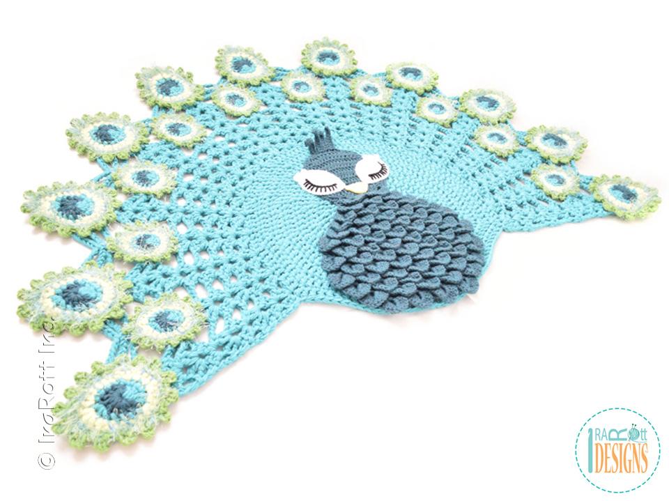 Pavo The Peacock Rug Pdf Crochet Pattern Irarott Inc