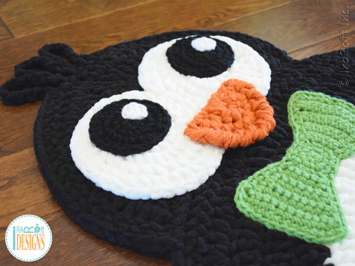 Penguin Animal Rug Mat Carpet Christmas Decoration.Crochet Pattern by IraRott