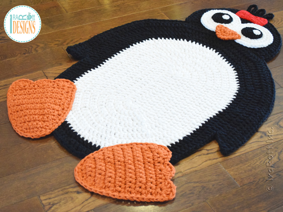 Floppy The Penguin Rug Pdf Crochet Pattern Irarott Inc