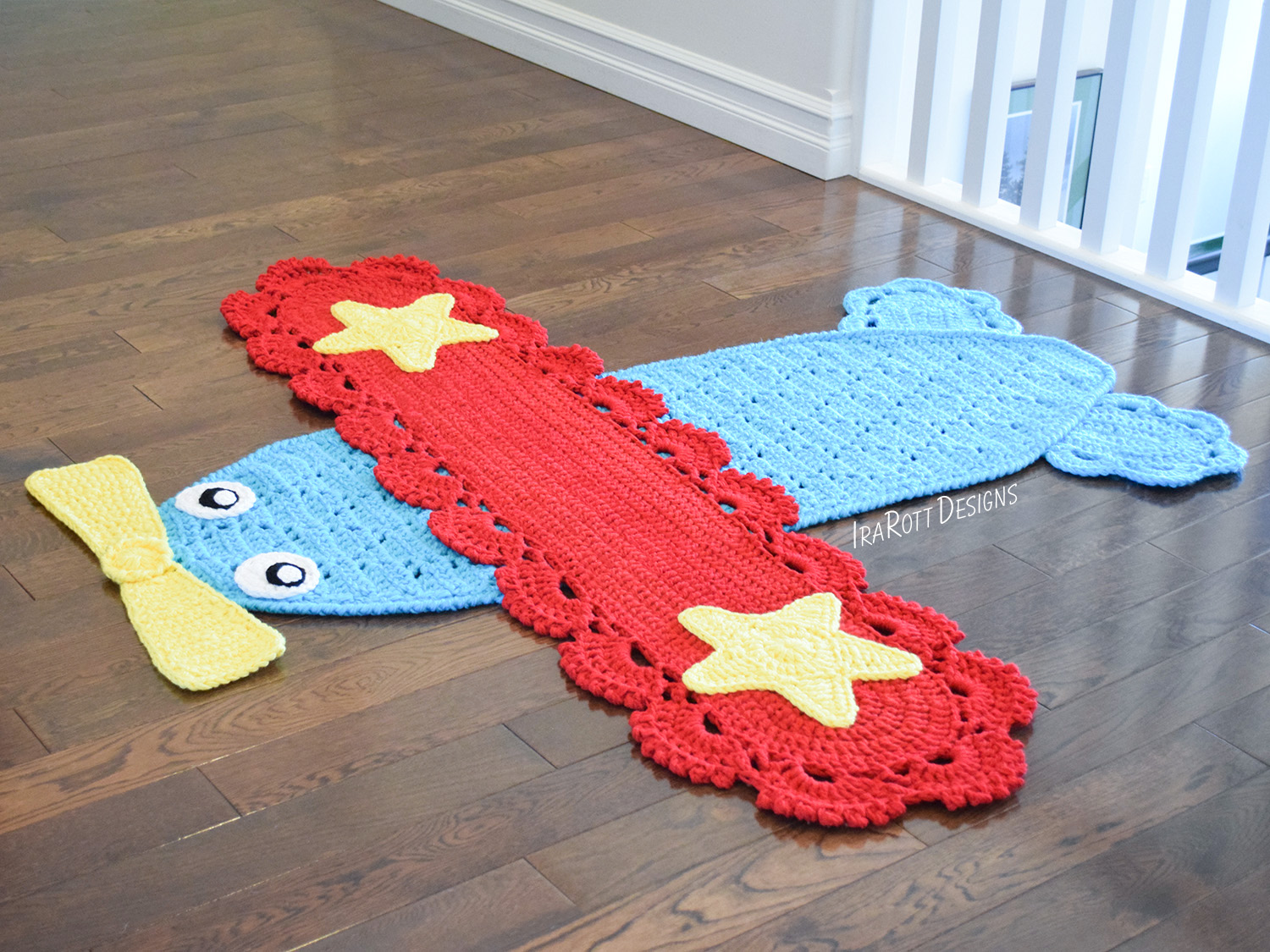 Peter The Airplane Rug Pdf Crochet Pattern Irarott Inc