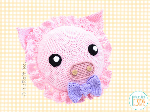 Pinky The Piggy Pig Pillow PDF Crochet Pattern With Instant Download by IraRott