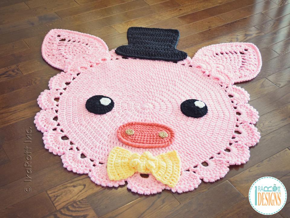 Pinky The Piggy Rug PDF Crochet Pattern