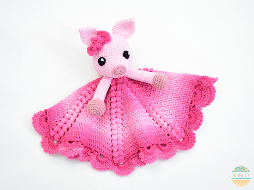 Pinky Piggy Pig Security Blanket PDF Crochet Pattern With Instant Download by IraRott