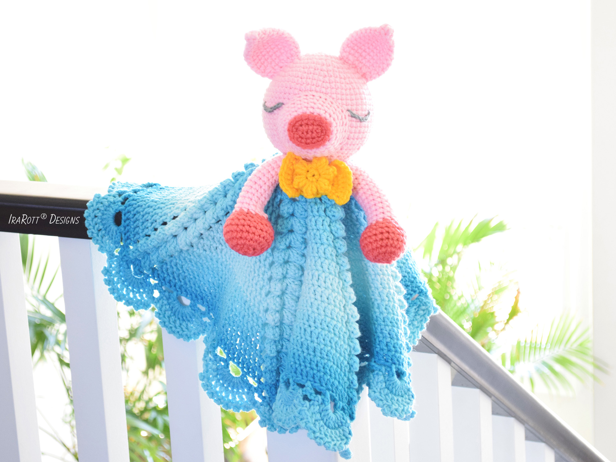 Pinky The Piggy Pig Security Blanket PDF Crochet Pattern With Instant Download by IraRott