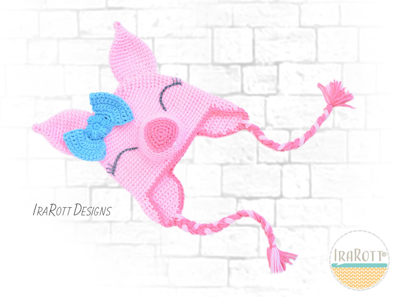 Pinky Piggy Hat Pdf Crochet Pattern Irarott Inc