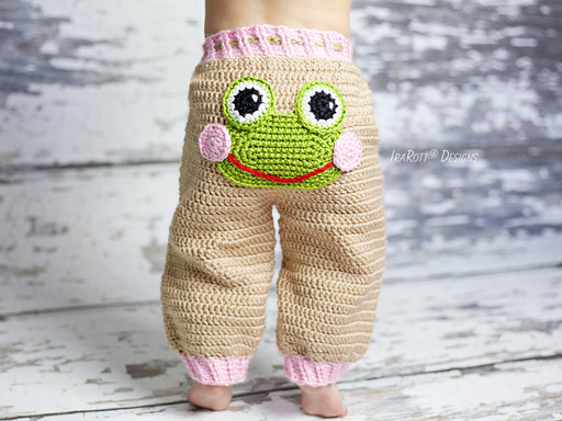 Pistachio The Frog Pants PDF Crochet Pattern With Instant Download by IraRott