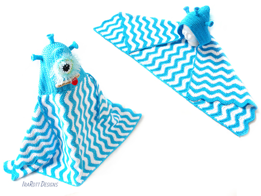 Alien Monster Hooded Beach Towel Blanket Crochet Pattern for boys and girls by IraRott
