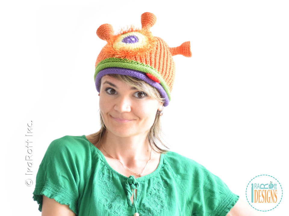 Plutonian Paul Alien Beanie Knit Pdf Pattern Irarott Inc