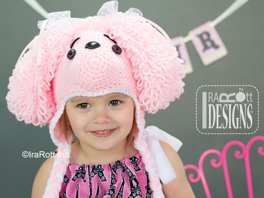 Loopy the Poodle Puppy Dog Hat PDF Crochet Pattern - IraRott Inc. 6447865998ef