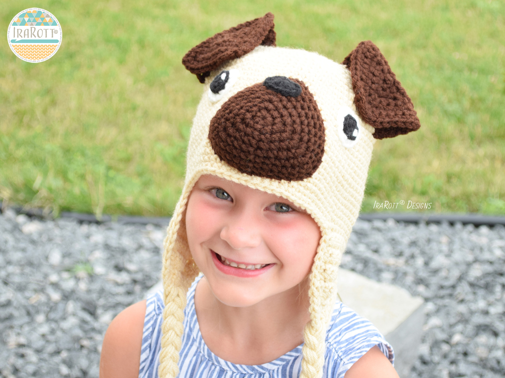 The Pugfect Pug Puppy Dog Hat PDF Crochet Pattern - IraRott Inc.
