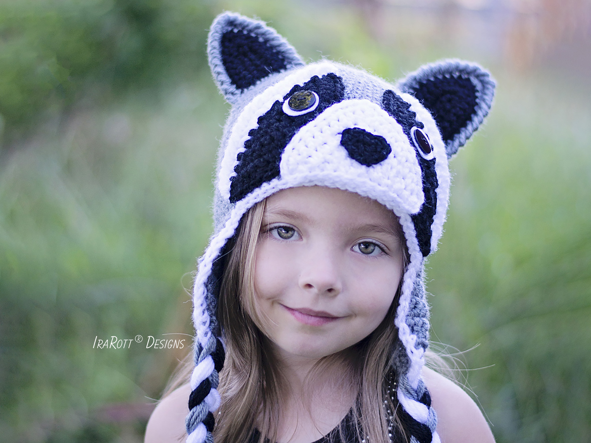 Rocky and Ricki the Raccoons PDF Crochet Hat Pattern - IraRott Inc.