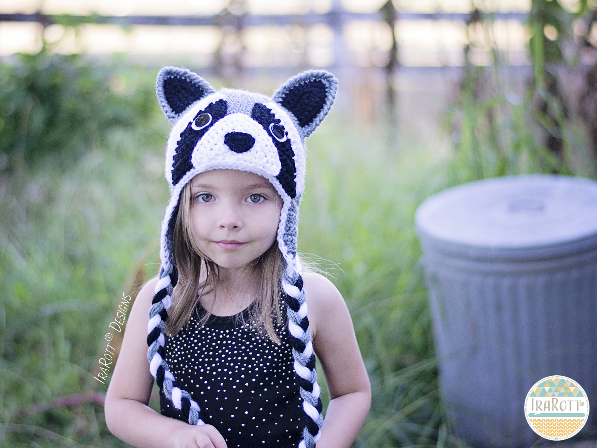 Rocky And Ricki The Raccoons Pdf Crochet Hat Pattern Irarott Inc