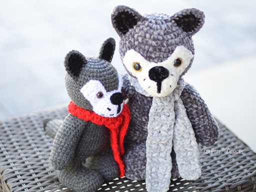 Raff and Rolf The Chubby Little Wolves Amigurumi PDF Crochet Pattern With Instant Download by IraRott