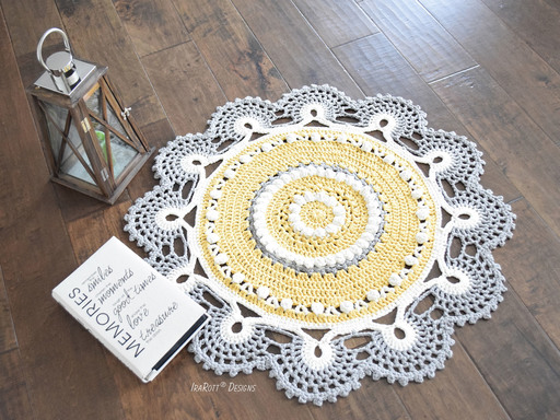 Super Bulky Retro Doily Rug PDF Crochet Pattern by IraRott
