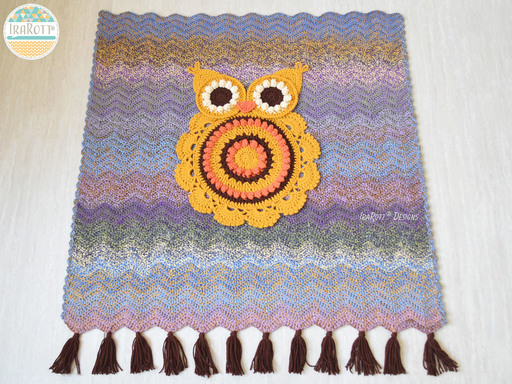Retro Owl Blanket PDF Crochet Pattern By IraRott