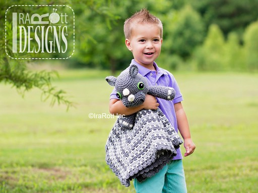 Rhino Rhinoceros Animal Lovey Security Blanket Crochet Pattern for babies and kids by IraRott