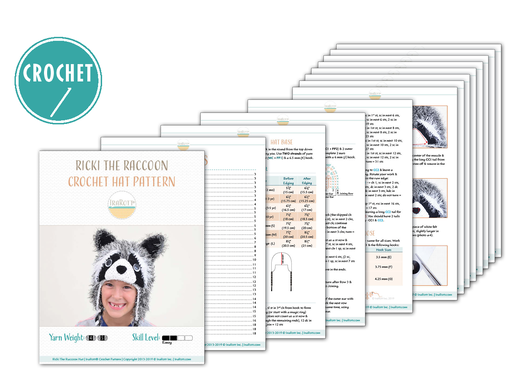 Ricki The Raccoon Furry Hat PDF Crochet Pattern With Instant Download by IraRott
